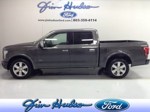 Pre-Owned 2015 Ford F-150 SuperCrew Platinum NAVI LEATHER PANO BLIND SPOT MONITOR HEATED C